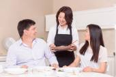 Time for lunch in Asian family — Stock Photo
