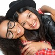 Laughing best friends hugging — Stock Photo #75823033