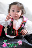 Angela, the girl in traditional dress — Stock fotografie