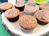 Chocolate homemade cupcakes — Stock Photo