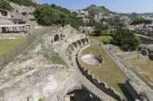 Sítio arqueológico na Baia perto de Nápoles — Fotografia Stock