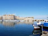 Boats in the port of Gallipoli — Stock Photo