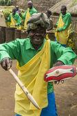 Tribal dancer rwanda — Stock Photo