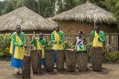 Rwanda drummers — Stock Photo