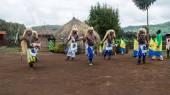 Tribal ritual, rwanda — Stock Photo