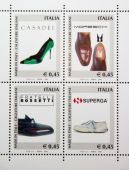 Italian footwear stamps — Stock Photo