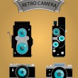 Photo camera icons set in flat style. vector — Stock Vector #53908073
