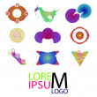 Set of logo icons. Abstract colorful logotype — Stock Vector #53908227