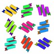 Set of cartoon paper colored zigzag Ribbons — Stock Vector #58284825