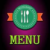 Vector illustration card. Restaurant menu label — Stock Vector