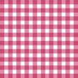 Flat easy tilable red and white gingham pattern — Stock Vector #61777757