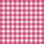 Flat easy tilable red and white gingham pattern — Stock Vector