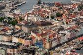 Ciudad de bergen en noruega — Foto de Stock