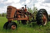 Old tractor parts — Stock Photo