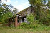 Decaying old house overtaken by plant growth — Stock Photo