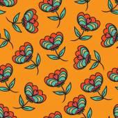 花のシームレスなテクスチャ — ストックベクタ