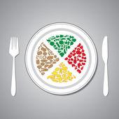 Voedsel plaat — Stockvector