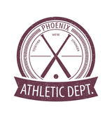 Phoenix Athletic Dept. emblem scratched — Stock Vector