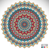 Mandala. Round Ornament Pattern. Vintage decorative elements. Hand drawn background. Islam, Arabic, Indian, ottoman motifs. — Stok Vektör