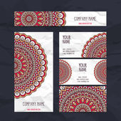 Business card or invitation. Vector background. Vintage decorative elements. Hand drawn background. — Stock Vector