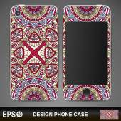 Phone case design. Vector background. Vintage decorative elements. Hand drawn background. — Stock Vector