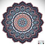 Mandala. Round Ornament Pattern. Vintage decorative elements. Hand drawn background. Islam, Arabic, Indian, ottoman motifs. — Stock Vector #56878635