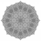 Mandala. Round Ornament Pattern. Vintage decorative elements. Hand drawn background. Islam, Arabic, Indian, ottoman motifs. — Stock Vector