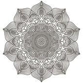 Mandala. Round Ornament Pattern. Vintage decorative elements. Hand drawn background. Islam, Arabic, Indian, ottoman motifs. — Stockvektor