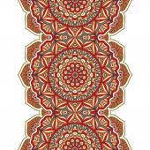 Indian seamless pattern with mandala — Stock Vector