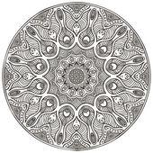 мандала. круглый орнамент шаблон. старинные декоративные элементы. рука нарисованные фон. ислам, арабский, индийский, османской мотивы. — Cтоковый вектор