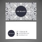 Business card. Vintage decorative elements. Hand drawn background. Islam, Arabic, Indian, ottoman motifs. — Stock Vector