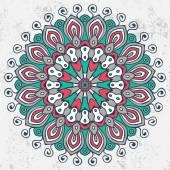 Ornamento redondo de Mandala — Vector de stock