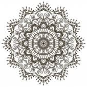 Mandala Round Ornament — Stock Vector