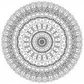 Mandala. Round Ornament — Stock vektor