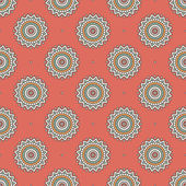 Vintage  Indian seamless pattern — Stock Vector