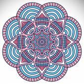 Mandala Round Ornament — Stock vektor