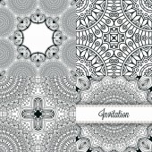 Seamless patterns with cards — Vector de stock