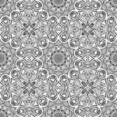 Vintage  Indian seamless pattern — Vector de stock