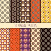 Collection seamless pattern — Stock Vector