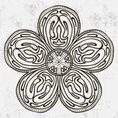 Mandala Round Ornament — Vector de stock