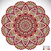 Mandala Round Ornament — 图库矢量图片