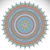 Mandala-Runde Verzierung — Stockvektor
