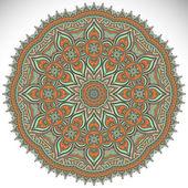 Mandala Round Ornament — Stock Vector