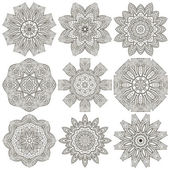 Decorative mandala collection — Stok Vektör