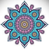 Mandala ronde ornament — Stockvector