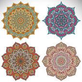 Decorative mandala collection — Stock Vector