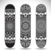 Set of skateboards templates — Stock Vector