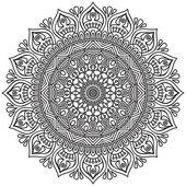 Mandala Round Ornament — Stockvektor