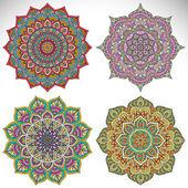 Decorative mandala collection — Vettoriale Stock