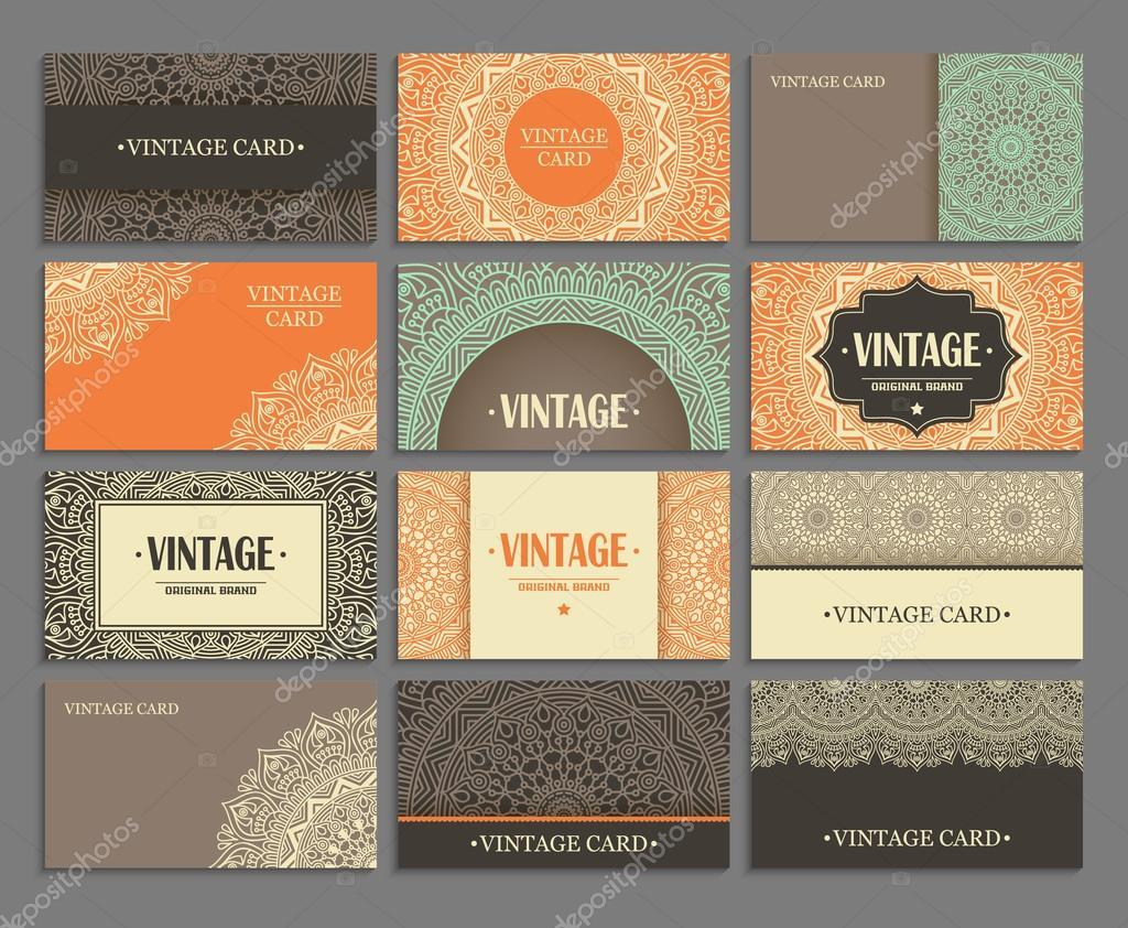 Set business card — Stock Vector © VikaSnezh